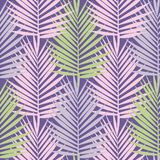 Palmettes tropicales ultra-violettes sans couture illustration de vecteur