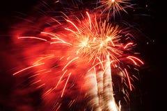 Palmier de feux d'artifice Image libre de droits