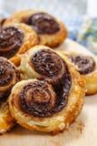 Palmier Kekse - französischer Nachtisch Stockbild
