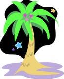 Palmier la nuit illustration stock