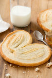 Palmier on plate on brown Royalty Free Stock Photography