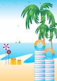 Palmier sur la plage Images libres de droits
