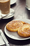 Palmiere or Elephant Ears Pastry in Cafe Royalty Free Stock Image