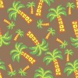 Palmiers de différentes tailles sur une couleur brune illustration stock