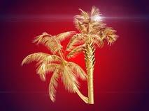 Palmiers de noix de coco rendu 3d Photographie stock