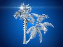 Palmiers de noix de coco rendu 3d Photos stock