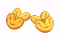 Palmiers. Elephant ear. Puff pastry cookie Royalty Free Stock Images