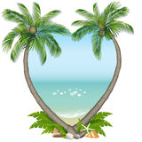 Palmiers et mer Photos stock