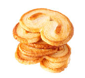 Palmiers, puff pastry cookie Royalty Free Stock Images