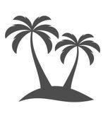 Palmiers sur l'île illustration libre de droits