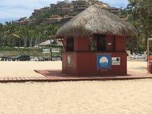 Palmilla strandlivräddare i San Jose del Cabo, Cabo San Lucas Arkivfoton