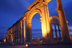 palmira废墟 免版税图库摄影