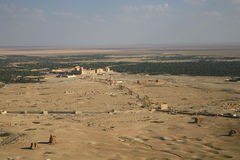 Palmira, Syria.  Panorama. Palmira, Syria. Ruins of an old city.  Panorama (top view). II thousand years BC. The Pearl of Syria. The city is constructed by the Royalty Free Stock Photo
