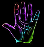 Palmistry, fortune telling. With lines on hand Royalty Free Stock Images
