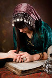 Palmistry hand-reading Stock Photography