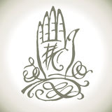Palmistry magic hand Stock Images