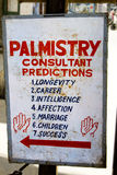 Palmistry panel Stock Images