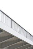 Palmo de acero de la viga de puente, carriles del pilar del metal del gris azul, modernos Imagen de archivo libre de regalías