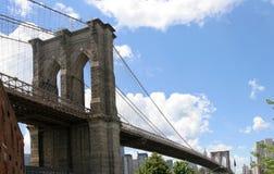Palmo del puente de Brooklyn Imagen de archivo