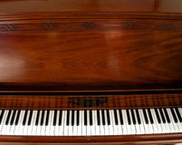 Palmo del teclado de piano Fotografía de archivo libre de regalías