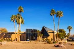 Palmowa głaz autostrady kostnica i cmentarz w Las Vegas fotografia royalty free