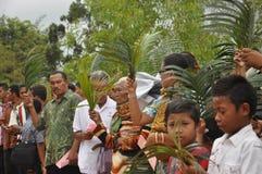 Palmowa Niedziela w Batam, Indonezja zdjęcia stock