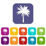 Palmowe ikony ustawiać royalty ilustracja