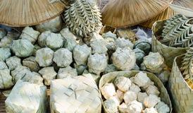Palmowego liścia rękodzieło Fotografia Stock