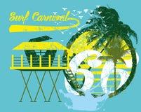 Palmowej wyspy sztuka Obrazy Royalty Free