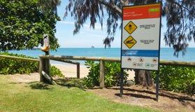Palmowi zatoczka kopów znaki ostrzegawczy Zdjęcie Royalty Free