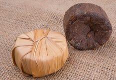 Palmowy aprosza cukier Na Gunny worku X Obrazy Stock