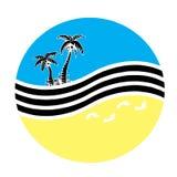 palmowy morze Fotografia Royalty Free