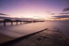 Palmowy zatoczka wschód słońca Fotografia Royalty Free