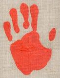 palmprint för oljemålarfärg Arkivfoto