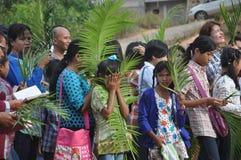 Palmsöndag i Batam, Indonesien Royaltyfri Foto