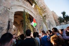Palmsöndag i Jerusalem Royaltyfri Foto