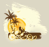 Palms banner vector illustration