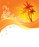 Palms banner Royalty Free Stock Images