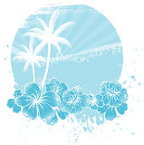 Palms banner Stock Images