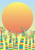 Palms on the beatch stock illustration