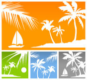 Palms color background Royalty Free Stock Images