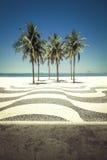 Palms on Copacabana Beach in Rio de Janeiro Stock Images