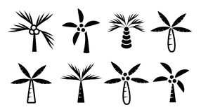 Palms icon set Royalty Free Stock Photography