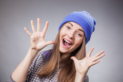 Palms of lovely girl Stock Images