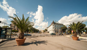 Palms in the old town center of Varna in Bulgaria Stock Photos
