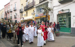 Palms procession Stock Photo