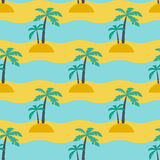 Palms and sea Royalty Free Stock Photo