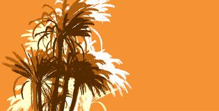 Palms trees background Royalty Free Stock Photography