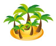 Palms vector. Palms cartoons over white background. vector illustration Stock Image