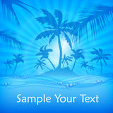 Palms and water background Royalty Free Stock Photography